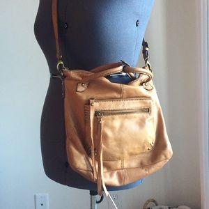 Lucky Brand Tan Leather Crossbody Bag EUC